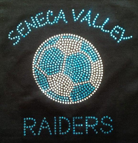 Seneca Valley Soccer Solid Rhinestone Design
