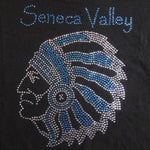 Seneca Valley Raider Head Rhinestone Design