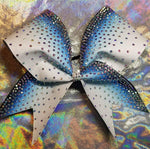 Ombre Top Down Glitter & Rhinestones Cheer Bow