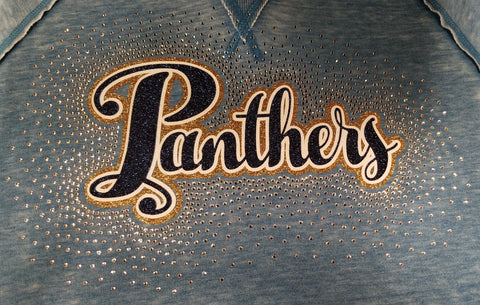 Franklin Regional Panthers Spectacular Bling Rhinestone Design