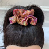 Orange Pink and Yellow Tie Dye Scrunchie