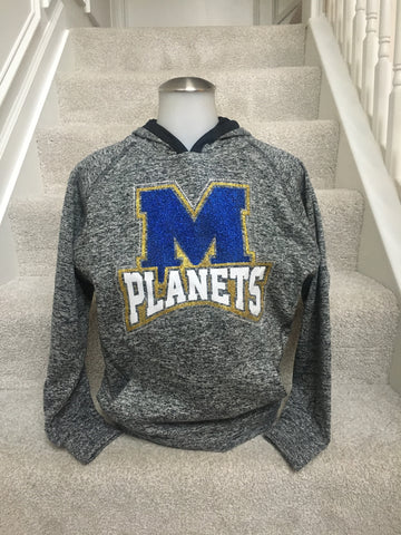 IN STOCK: Mars Planets Cosmic Pullover Hood in Youth Large
