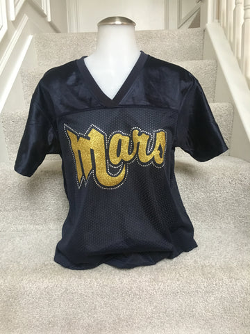 IN STOCK: Mars Planets Replica Football Jersey in Ladies X-Large