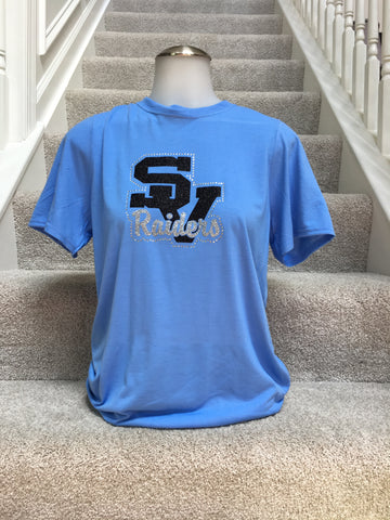 IN STOCK: Seneca Valley Raiders Blue Performance Tee – Adult Small