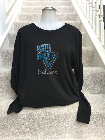 IN STOCK: Seneca Valley Raiders Bling Logo Long Sleeve – Ladies XX-Large