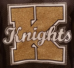 Knoch Knights Layered Rhinestone Design