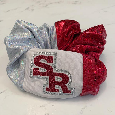 Slippery Rock Rockets School Spirit Scrunchie