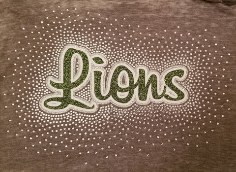 South Fayette Lions Spectacular Bling Rhinestone Design
