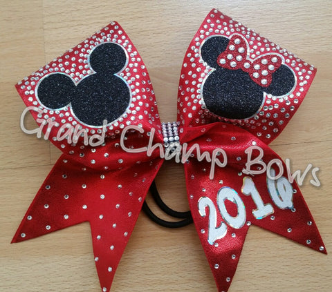 Mickey Minnie Rhinestone Bow - GrandChampBows - 1