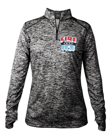 Fire & Ice Quarter Zip Long Sleeve Tee in Ladies sizes - GrandChampBows - 1