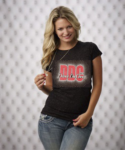 DDC Glitter Fitted Short Sleeve Tee - Girls & Ladies Sizes