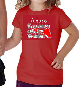Neshannock Lancers Future Cheerleader Toddler Tee - GrandChampBows - 1