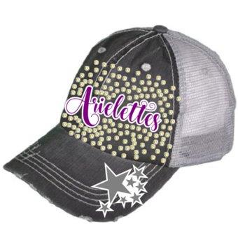Arielettes Glitter & Bling Destructed Trucker Cap / Hat