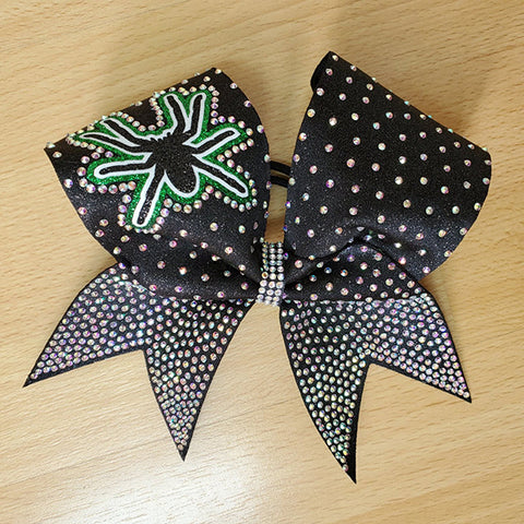 Pittsburgh Poison Spider Bling Cheer Bow