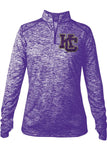 Karns City Ladies Quarter-Zip Long Sleeve Tee - GrandChampBows - 1