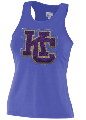 In Stock Karns City Solid Purple Fitted Racerback Tank - GrandChampBows