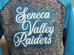 Seneca Valley Raiders Large Script Rhinestone Design