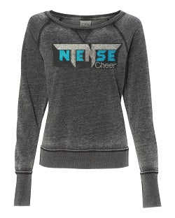 Ntense Zen Contrast Crew Neck Sweatshirt in Ladies Sizes