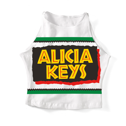 Alicia Keys 90s Inspo Crop Tank