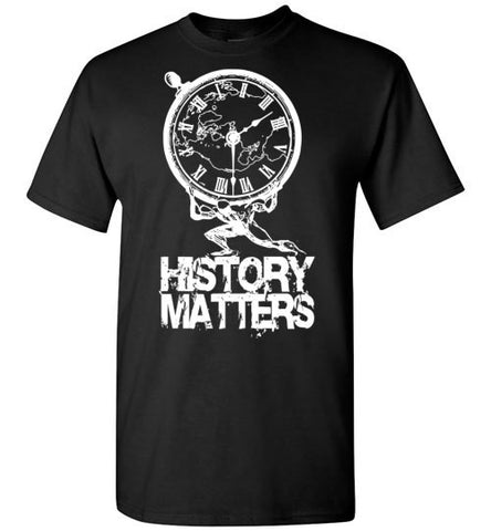 MEN'S T-SHIRT - HISTORY MATTERS: White Graphic - ExpressLiberty.com - Products for Libertarians, Conservatives, Patriots, and Objectivists.