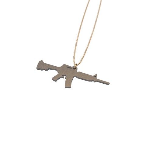 AR-15 Steel Pendant - ExpressLiberty.com - Products for Libertarians, Conservatives, Patriots, and Objectivists.