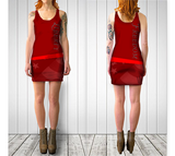 LIBERTY / FREEDOM BODYCON DRESS - Red - ExpressLiberty.com - Products for Libertarians, Conservatives, Patriots, and Objectivists.