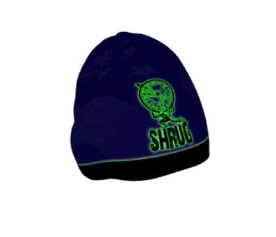 """SHRUG"" BEANIE: Blue - ExpressLiberty.com - Products for Libertarians, Conservatives, Patriots, and Objectivists."