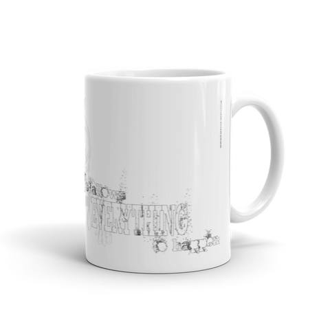MUG: Liberty Quote over Shrugging Atlas. (Blk/Gry)