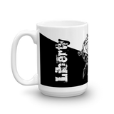 MUG: Freedom - Liberty Shrugging Atlas in Ying-Yang style. - ExpressLiberty.com - Products for Libertarians, Conservatives, Patriots, and Objectivists.