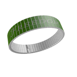 STAINLESS STEEL WRIST BAND - FREEDOM / LIBERTY: Green - ExpressLiberty.com - Products for Libertarians, Conservatives, Patriots, and Objectivists.