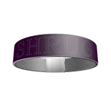 """SHRUG"" SILICONE WRIST BAND: Purple - ExpressLiberty.com - Products for Libertarians, Conservatives, Patriots, and Objectivists."