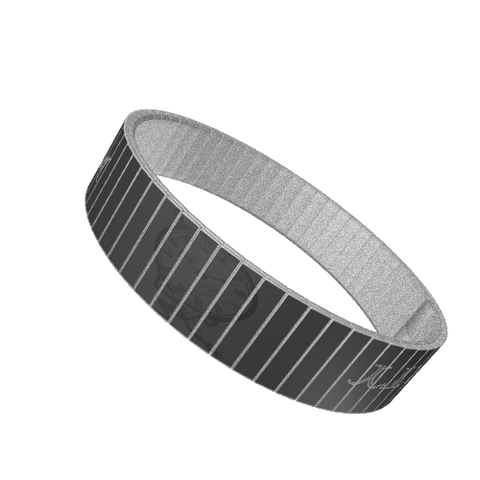 STAINLESS STEEL WRIST BAND - LIBERTY / FREEDOM: Charcoal - ExpressLiberty.com - Products for Libertarians, Conservatives, Patriots, and Objectivists.