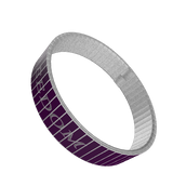 STAINLESS STEEL WRIST BAND - FREEDOM / LIBERTY: Purple - ExpressLiberty.com - Products for Libertarians, Conservatives, Patriots, and Objectivists.