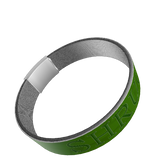 """SHRUG"" SILICONE WRIST BAND: Green"