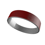 """SHRUG"" SILICONE WRIST BAND: Red"