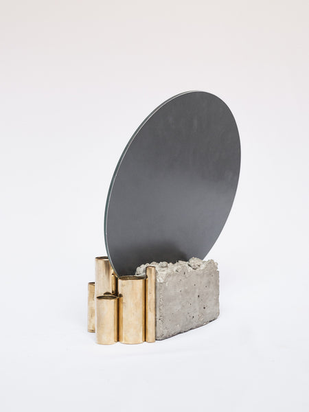 Concrete Makeup Mirror