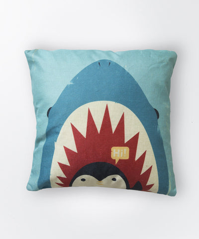 Shark Vs Penguin Pillow Case