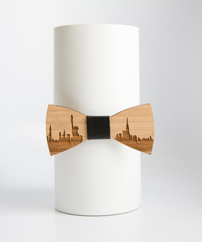 City Wood Tie - New York