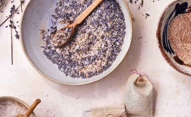 Paradise Springs USDA Organic Lavender Essential Oil DIY Lavender Oat Bath Recipe