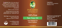 Load image into Gallery viewer, Paradise Springs Tea Tree Oil Label