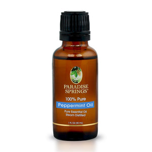 Paradise Springs Peppermint Oil Bottle