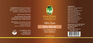 Paradise Springs Skin Blend Label