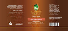 Load image into Gallery viewer, Paradise Springs Detox Blend Label