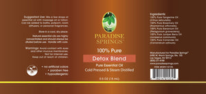 Paradise Springs Detox Blend Label