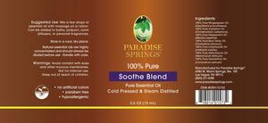 Paradise Springs Soothe Blend Label