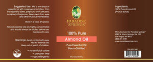 Paradise Springs Almond Oil Label