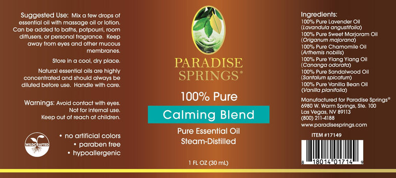 Calming Blend - 1 oz (30 mL)