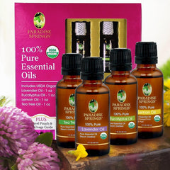 Essential Oil USDA Organic Kit 4-Pack