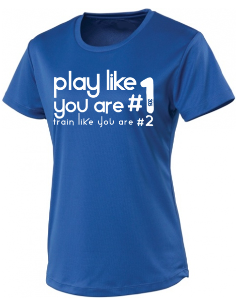 Womens Play Like #1 Cool T