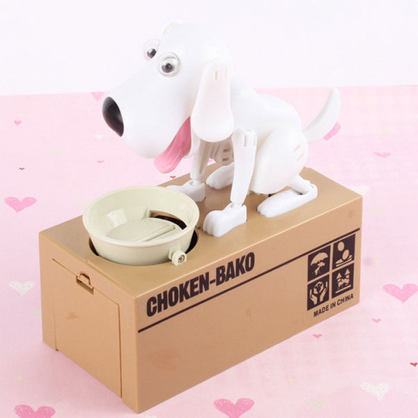 Cute 5 Colours Super Fun Cartoon Money-boxes Creative Birthday Gift Supply Dog Piggy Bank Children's Day Money Box Saving Banks